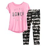 Toddler Girl Jumping Beans® Active Graphic Tee & Leggings Set