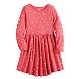 Girls 4-12 Jumping Beans® Long Sleeve Skater Dress