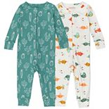 Baby Boy Mac & Moon 2-Pack Organic Footless Pajamas
