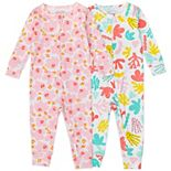Baby Girl Mac & Moon 2-Pack Organic Footless Pajamas