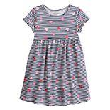 Toddler Girl Jumping Beans® Roll-Cuff Babydoll Dress