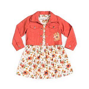 Toddler Girl Little Lass Floral Dress & Jacket Set