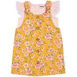 Toddler Girl Little Lass 2-Piece Flutter Sleeve Top & Floral Jumper Set