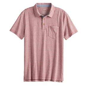 Men's Sonoma Goods For Life® Striped Jersey Pocket Polo in Regular and Slim Fit
