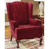 Sure Fit™ Royal Diamond Wing Chair Slipcover