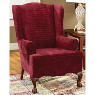 Sure Fit Royal Diamond Wing Chair Slipcover