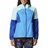 Women's Columbia Side Hill Hooded Colorblock Windbreaker Jacket