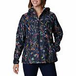 Women's Columbia Side Hill Hooded Print Windbreaker Jacket