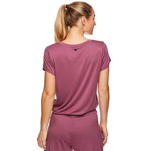 Women's Gaiam Short Sleeve Park Tie Top