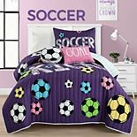 Lush Decor Soccer Kick Quilt Set