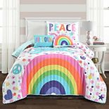 Lush Decor Unicorn Rainbow Quilt Set