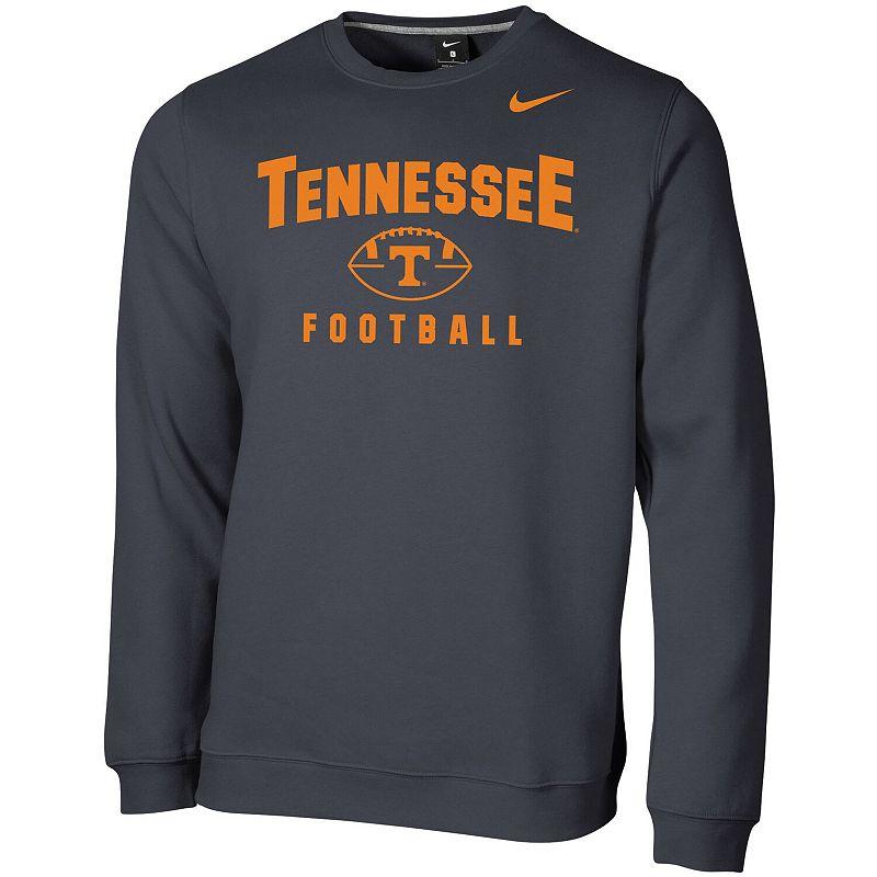 Men's Nike Charcoal Tennessee Volunteers Football Oopty Oop Club Fleece Sweatshirt, Size: Medium, Grey