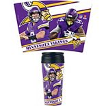 WinCraft Minnesota Vikings 16oz. Contour Travel Logo Mug