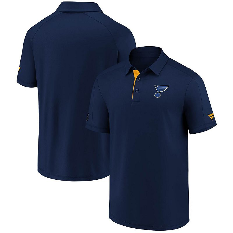 Men's Fanatics Branded Navy St. Louis Blues Authentic Pro Locker Room Polo, Size: XL