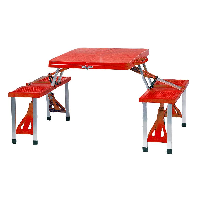 Picnic Time Foldable Table, Multicolor Easy to enjoy. Setup is a cinch with this Picnic Time foldable table. In a variety of colors. Spacious tabletop provides plenty of room for food, drinks and other picnic essentials. Foldable designallows compact storage. Durable contruction and metal frame ensure endless use. Details: Folded: 33 1/2L x 4W x 15 1/2H Open: 54L x 33 1/2W x 25 3/4H Holds a maximum weight of1,000 lbs. Polyresin Frame: aluminum Hand wash Manufacturer's lifetime limited warrantyFor warranty information please click here Model numbers: Red: 811-00-100 Blue: 811-00-139 Green: 811-00-121 Black: 811-00-175 Size: One Size. Color: Multicolor. Gender: Unisex. Age Group: Adult. Material: Polyresin/Aluminum.