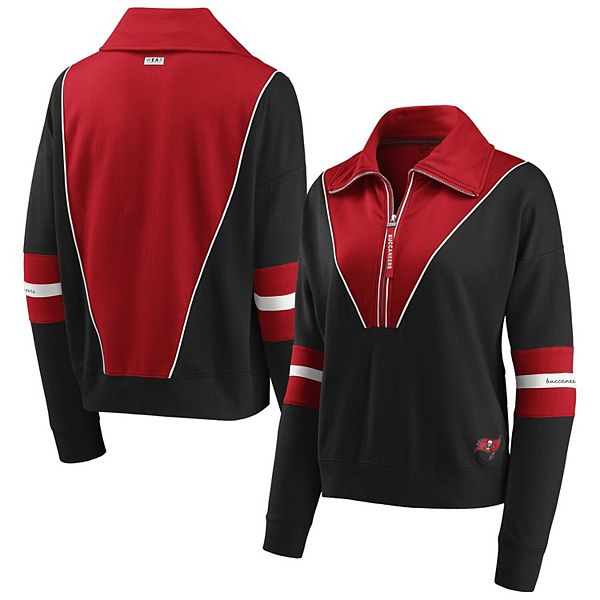 Women S Wear By Erin Andrews Pewter Tampa Bay Buccaneers Half Zip Jacket