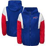 Youth Royal Buffalo Bills Two Man Rush Full-Zip Windbreaker Jacket