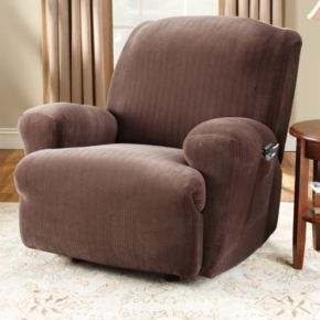 Sure Fit Pin-Striped Recliner Slipcover