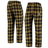 Men's Concepts Sport Black/Gold Boston Bruins Parkway Flannel Sleep Pants