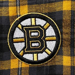 Men's Concepts Sport Black/Gold Boston Bruins Parkway Flannel Sleep Pants