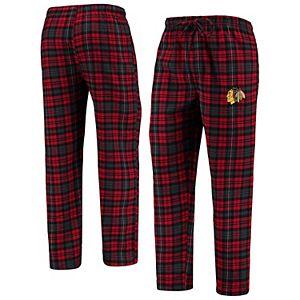 Men's Concepts Sport Red/Black Chicago Blackhawks Parkway Flannel Sleep Pants