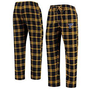 Men's Concepts Sport Navy/Gold St. Louis Blues Parkway Flannel Sleep Pants