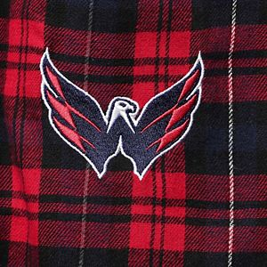 Men's Concepts Sport Red/Navy Washington Capitals Parkway Flannel Sleep Pants