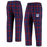 Men's Concepts Sport Blue/Red New York Rangers Parkway Flannel Sleep Pants