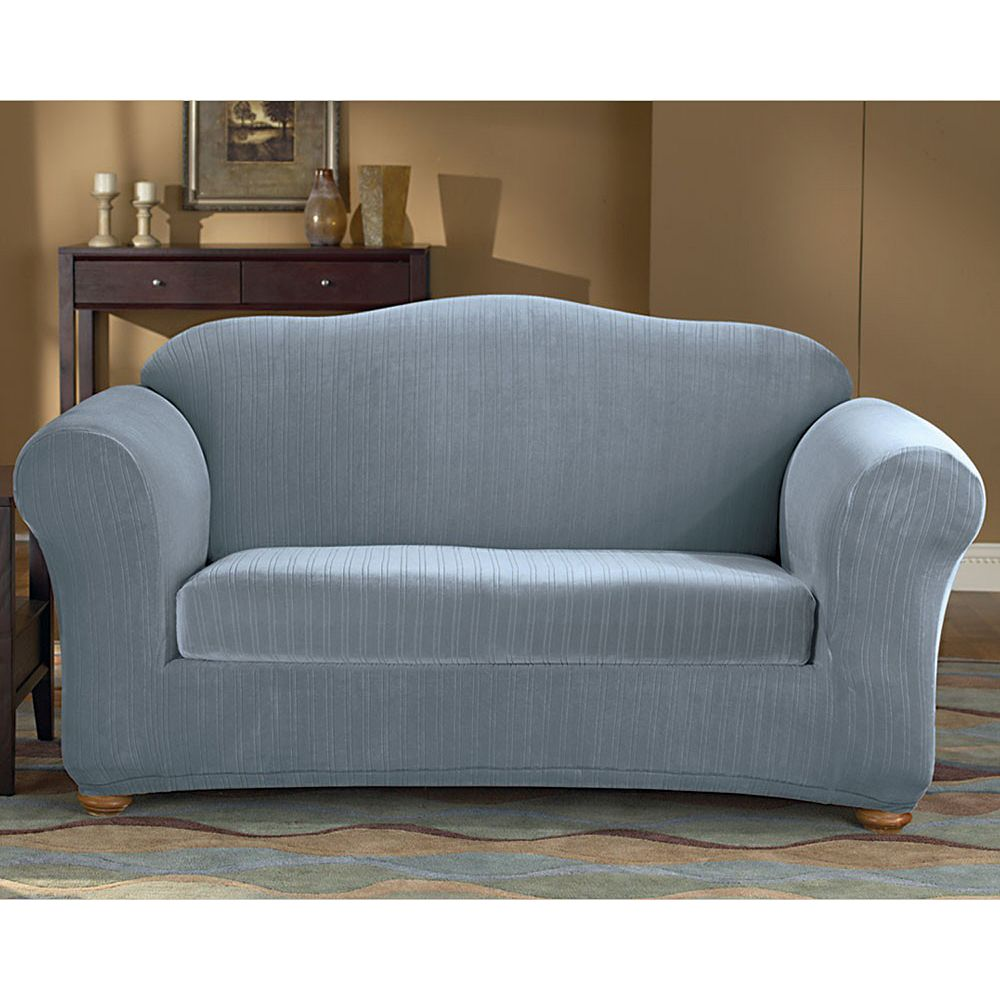 Sure Fit Pin-Striped Sofa Slipcover