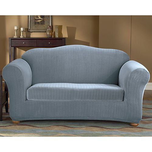 Sure Fit Pin-Striped Sofa Slipcover