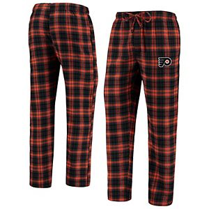 Men's Concepts Sport Black/Orange Philadelphia Flyers Parkway Flannel Sleep Pants