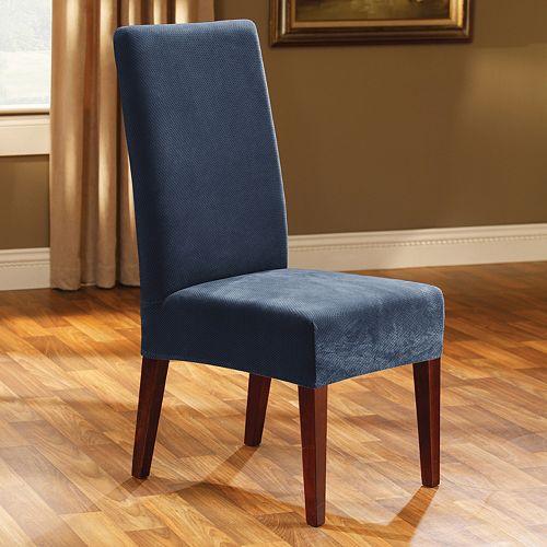 Stupendous Sure Fit Pique Dining Chair Slipcover Inzonedesignstudio Interior Chair Design Inzonedesignstudiocom