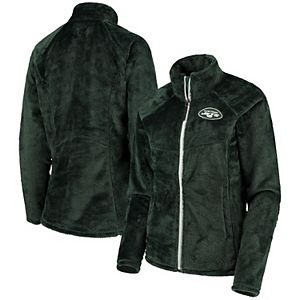 Women's G-III 4Her by Carl Banks Green New York Jets Tie Breaker Fleece Full-Zip Jacket