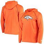 Men's Starter Orange Denver Broncos Warmup Hoodie Raglan Long Sleeve T-Shirt