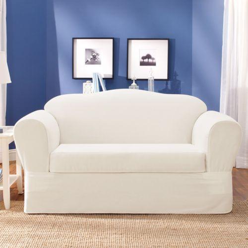 Sure Fit Twill Supreme Sofa Slipcover