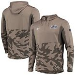 Men's Under Armour Olive Navy Midshipmen Military Appreciation Quarter-Zip Pullover Performance Hoodie Jacket