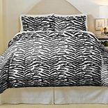 Pointehaven Zebra Soft Luxury Flannel Duvet Cover Set