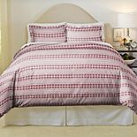Pointehaven Isle Flakes Soft Luxury Flannel Duvet Cover Set