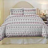 Pointehaven Aztec Soft Luxury Flannel Duvet Cover Set