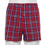 Men's Fruit of the Loom® Signature 5-pack + 2 Bonus Relaxed-Fit Tartan Plaid Boxers