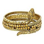 Simply Vera Vera Wang Gold Tone Wrap Snake Bangle Bracelet