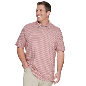 Big & Tall Sonoma Goods For Life® Slim-Fit Striped Jersey Pocket Polo