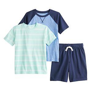 Boys 4-12 Jumping Beans® Tees & Shorts 3-Piece Set