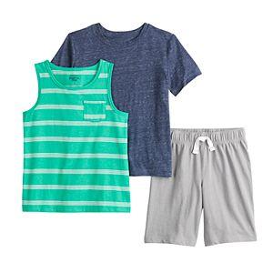 Boys 4-12 Jumping Beans® Tank, Tee & Shorts Set
