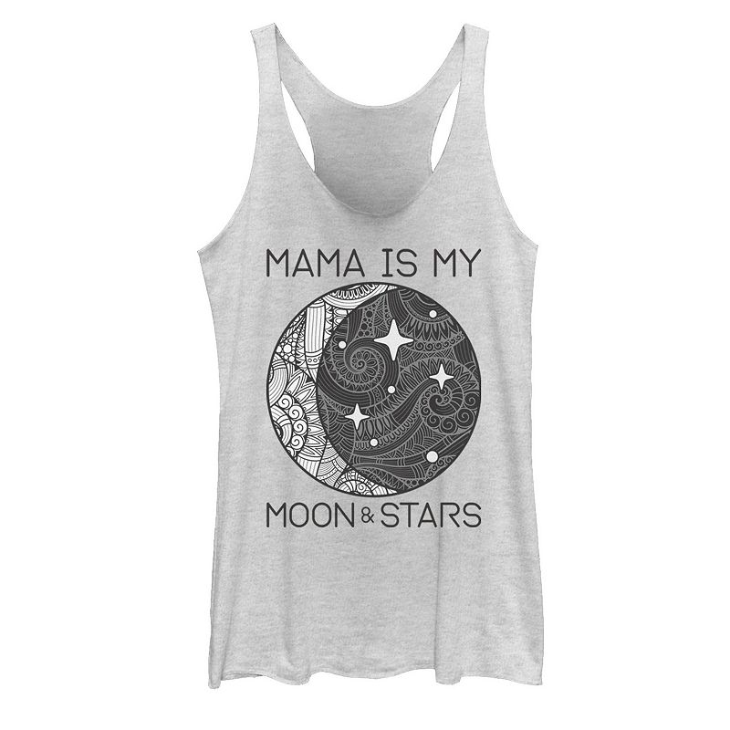 Juniors' Mama Is My Moon & Stars Mother's Day Graphic Tank, Girl's, Size: XXL, White
