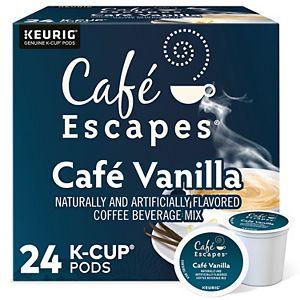 Café Escapes Café Vanilla Coffee, Keurig® K-Cup® Pods, 24 Count