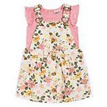 Baby Girl Little Lass Flutter Sleeve Top & Jumper Set