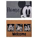 Disney's Mickey Gray 2-Pack Coir Mat Set