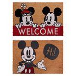 Disney's Mickey Hi/Welcome 2-Pack Coir Mat Set