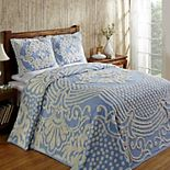 Better Trends Florence Cotton Chenille Bedspread or Standard Sham